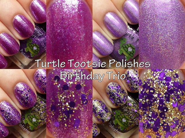 Turtle Tootsie Polishes Birthday Trio