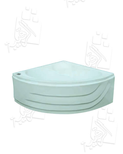 بانيو الجوهرة أكريلك زاوية أبيض  120×120سم بدون الشاسية