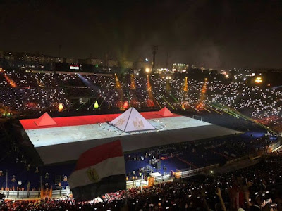 "Part of the AFCON ceremony  in Egypt ""Twitter"""