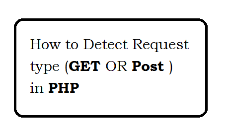 How to Detect Request type (GET OR Post ) in PHP