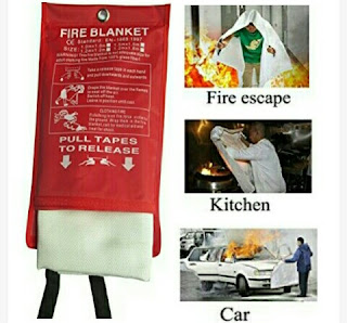 Tonyko Fire Blanket - Flame Retardant Fiberglass Cloth