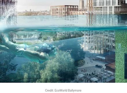 Sky Pool : η πρώτη διαφανής πισίνα που κατασκευάστηκε ανάμεσα σε δύο ουρανοξύστες με θέα το Λονδίνο