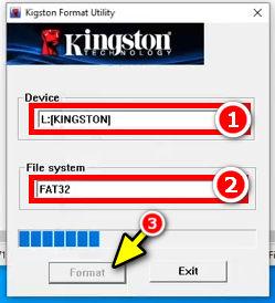 kingston format tool or recovery tool – للسوفت وير الخاص بفلاشات الكينج ستون
