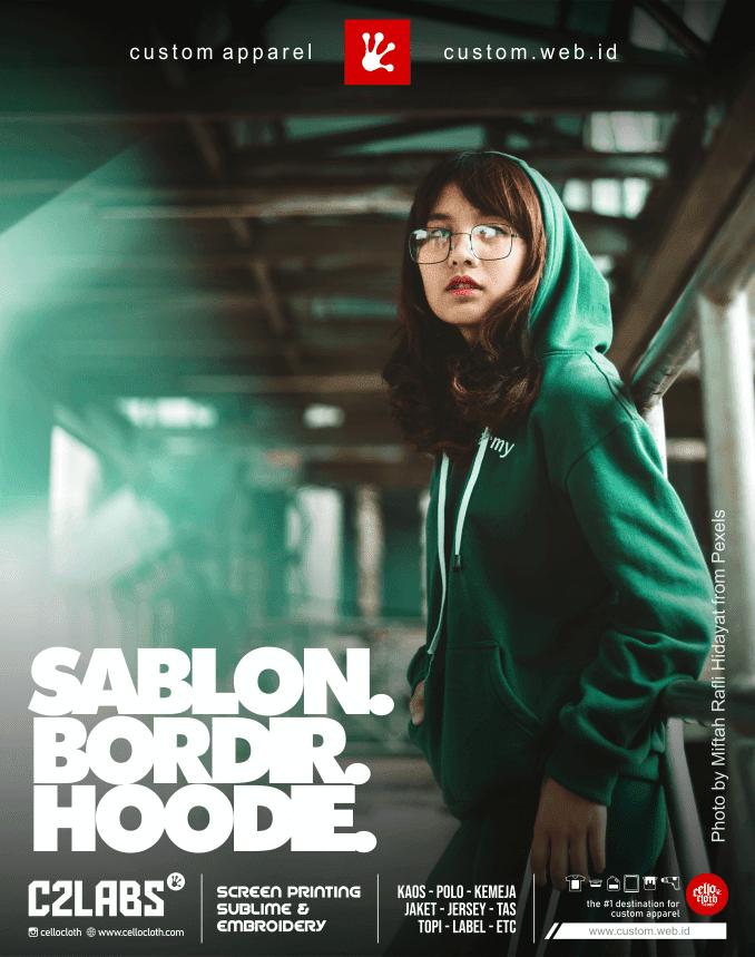 Sablon Bordir Hoodie Jacket Custom Fleece Cotton Material - Konveksi Jaket Jogja