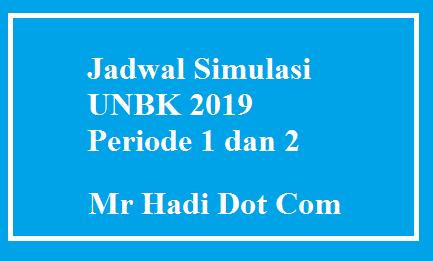 Jadwal Resmi Simulasi UNBK 2019 dari puspendik