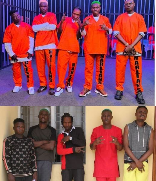 GIST: Naira Marley Re Creates EFCC's Arrest Mugshot (2nd Photo Is Too Emotional)