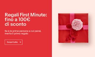 eBay anticipa tutti! Sconti fino a 100€ con Regali First Minute