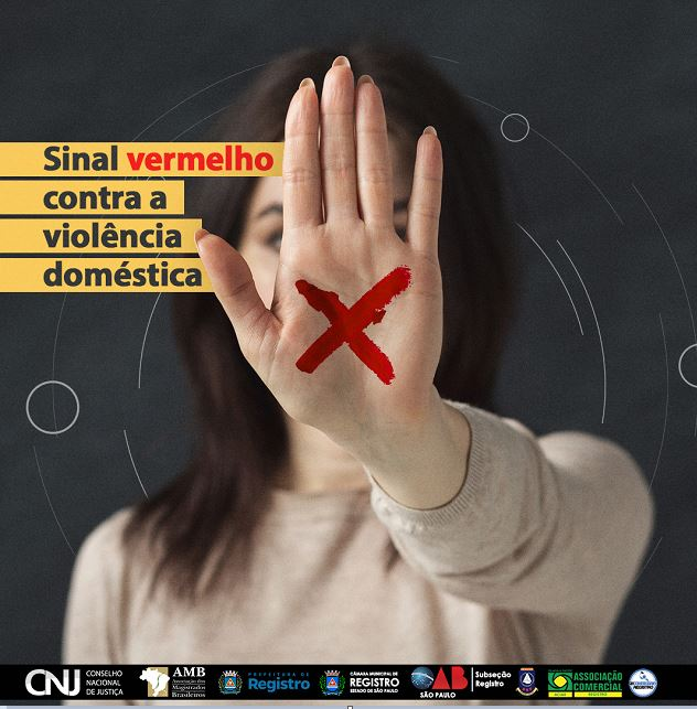 Câmara de Registro-SP entra na Campanha Sinal Vermelho à Violência Doméstica