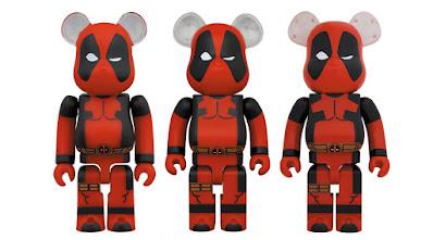 Deadpool Marvel Be@rbrick Vinyl Figures by Medicom Toy