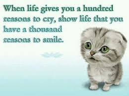 Quotes On Smile: when life gives a husbanded reasons to cry,