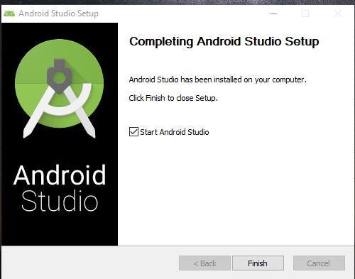 Proses instalasi Android Studio Berhasil Dilakukan