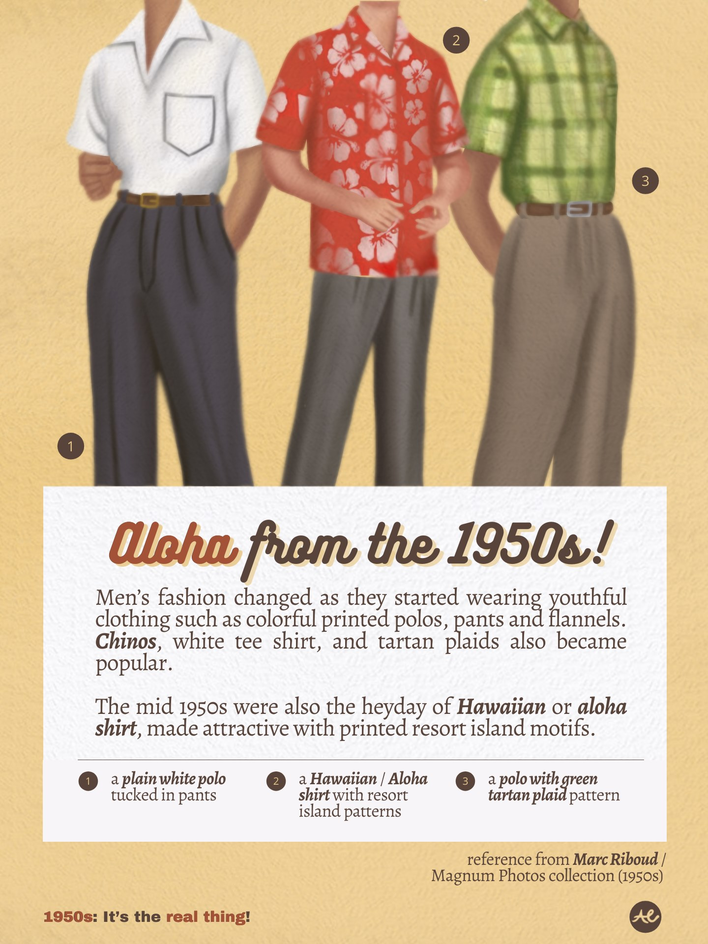 Men's fashion during the 1950s Philippines