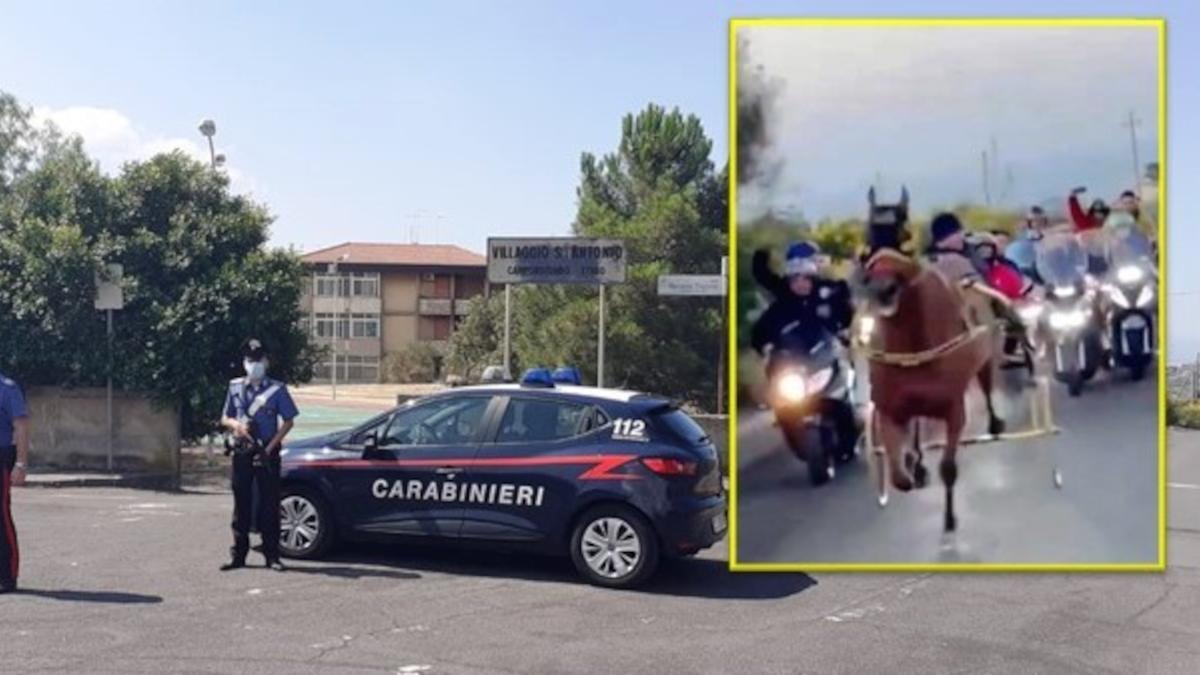 Corsa di cavalli Camporotondo Etneo Piscine Carabinieri