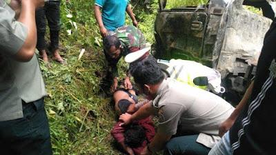 Mobil Pikap L 300 Masuk Jurang di Taput, Pengemudi Tewas