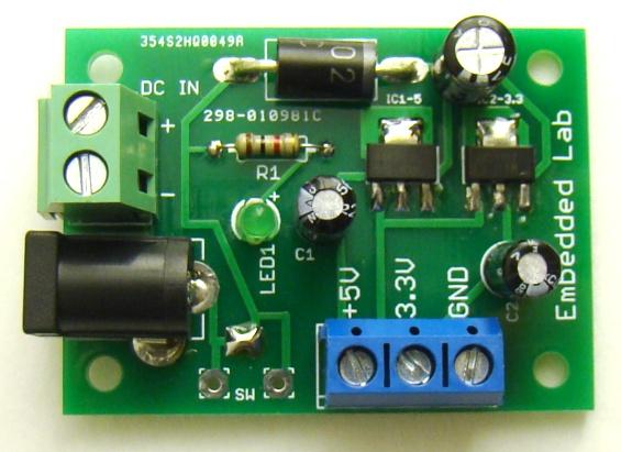 Crazy Fans Multipurpose Dual Power Supply Regulator Board Ams1117