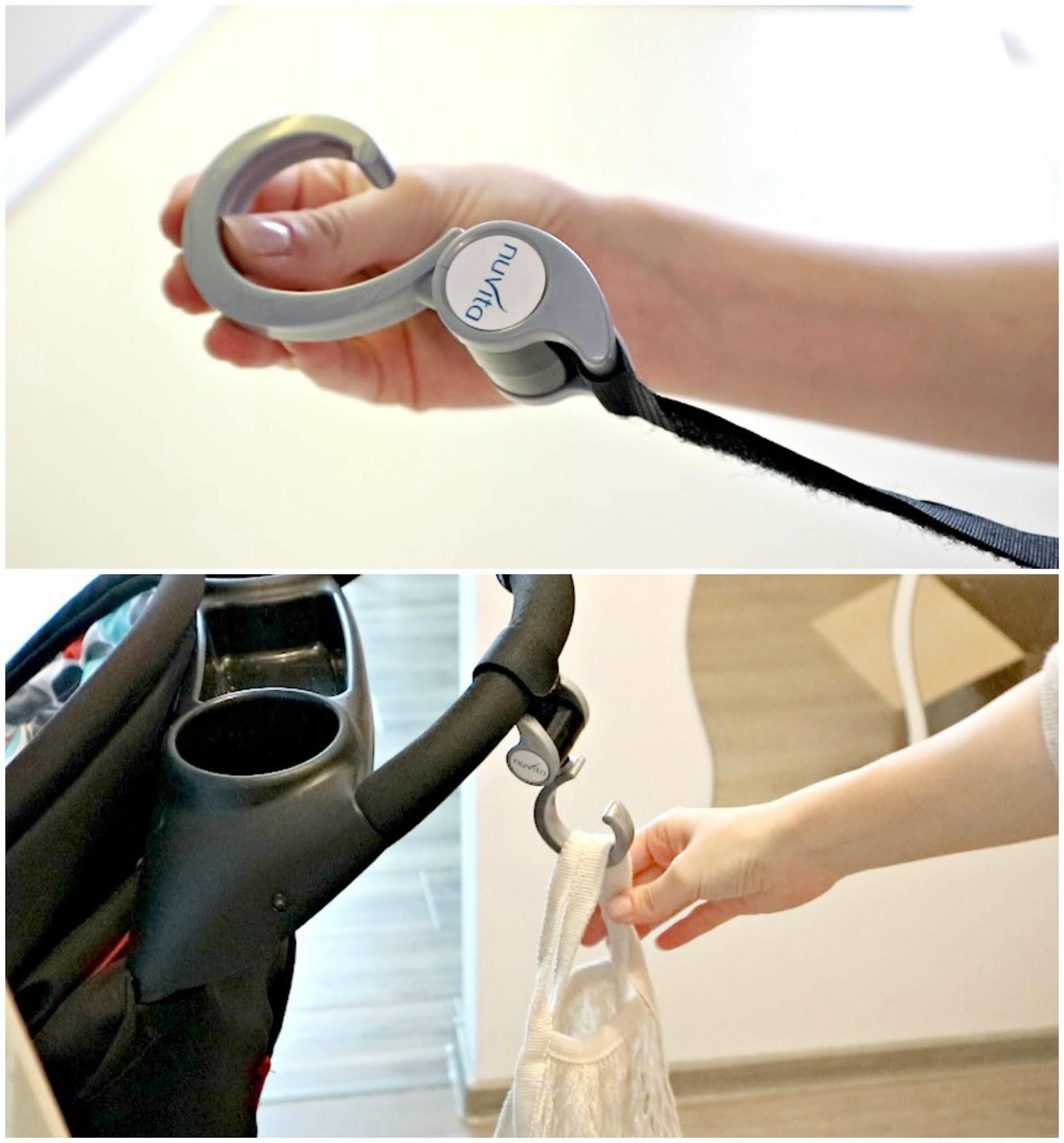 stroller hook for grocery bags new mom hacks