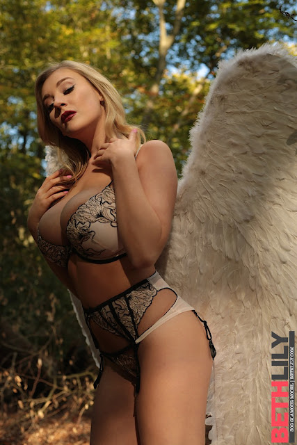 Beth lily hot pose big boobs angel wings