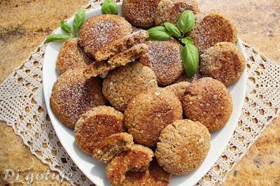 Mocno kokosowe ciastka z płatkami zbożowymi (z olejem, wiórkami i cukrem kokosowym)