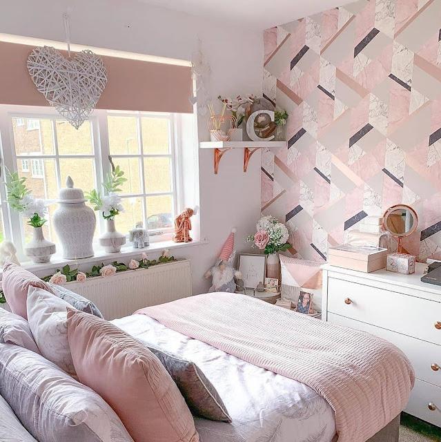 Dekorasi Kamar Tidur Remaja Perempuan Nuansa Pink Terbaru