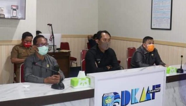 Bupati OKU Selatan Vidio Confrence Bersama Gubernur Sumsel