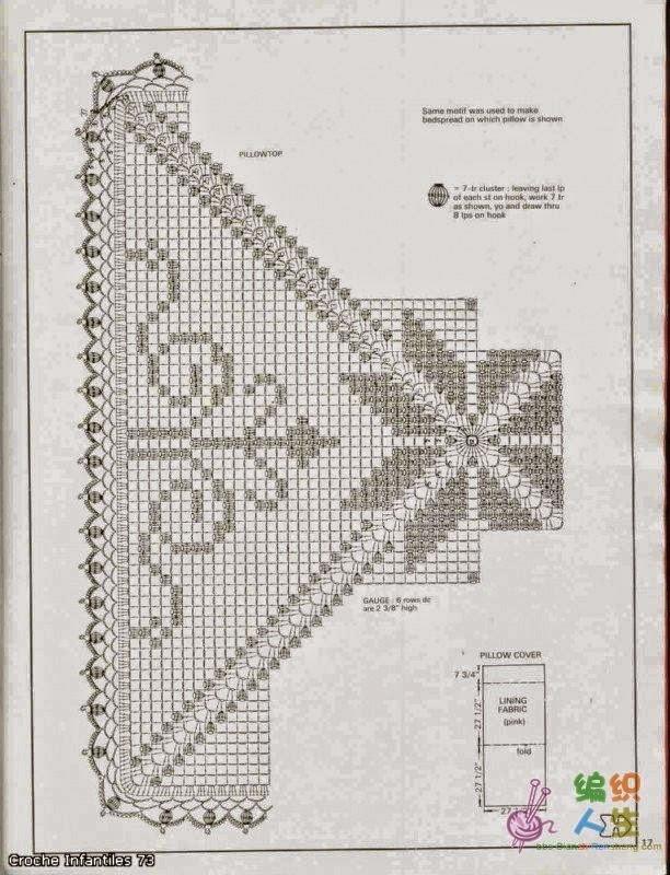 Diagrama crochet de almohadón en técnica filet | Crochet y Dos ...
