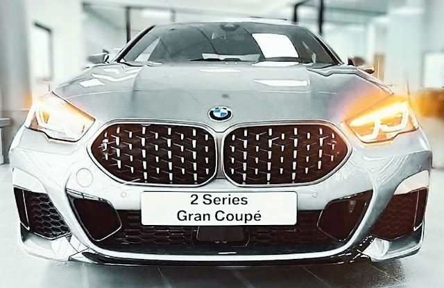 BMW-M235i-xDrive-Gran-coupe-silver-grille-and-headlights-2020
