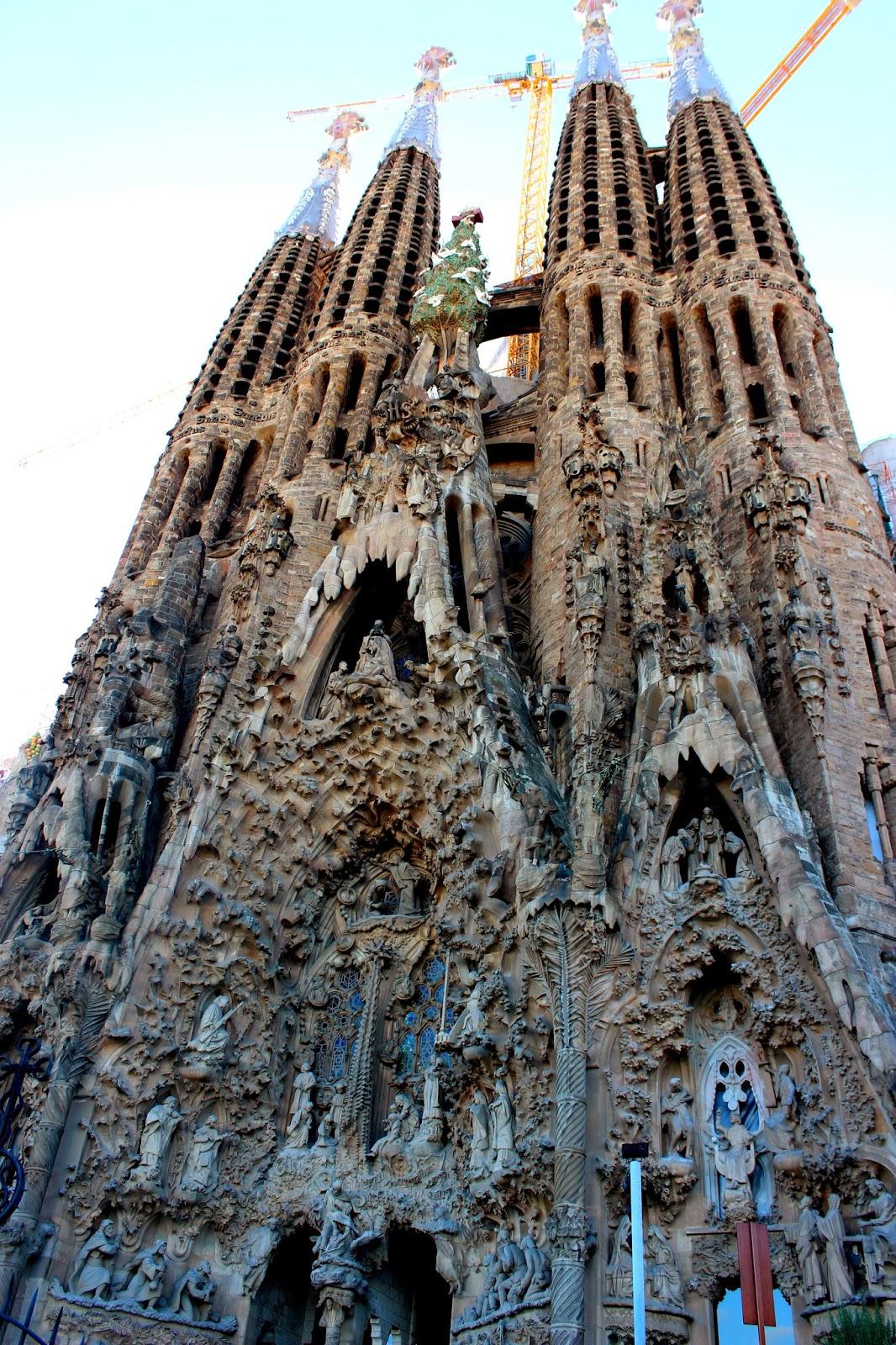 Fachada de la natividad en la Sagrada Familia