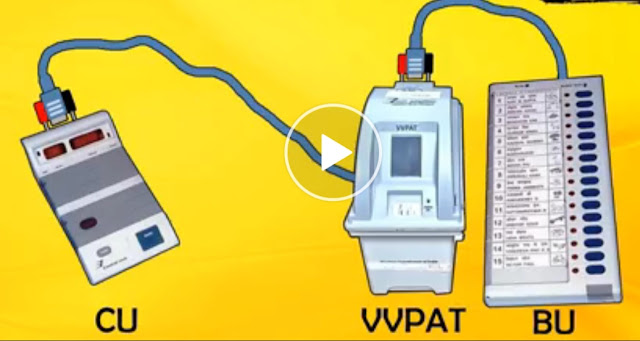VVPAT MACHINE  BACK  SIDE  KNOB