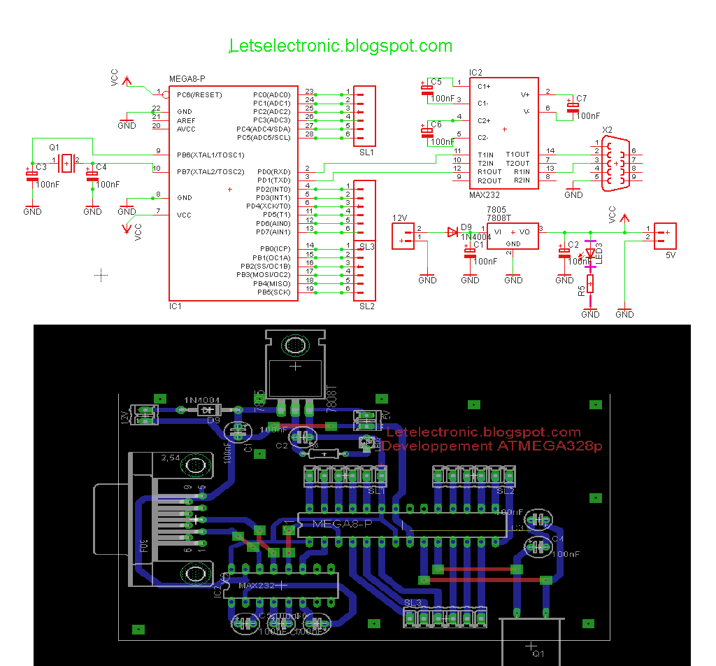 let s electronic stop using proteus ares here is my eagle pcb the circuit diagram and board are designed in eaglecad english page [ 1024 x 952 Pixel ]