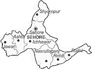 sehore map सीहोर