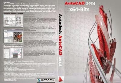 Autodesk AutoCAD 2014 x64-Bits DVD Capa