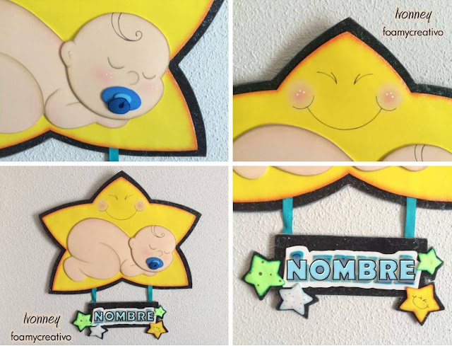 cartel bebe niño foami, foamycreativo