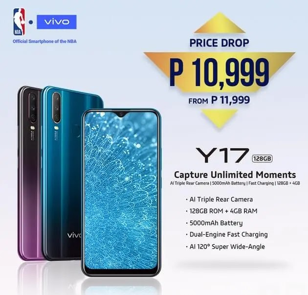 Price Drop Alert: Vivo Y17 Now Only Php10,999