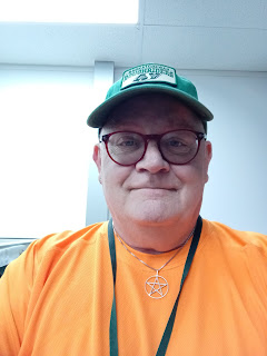 The Wizard wearing an orange shirt to support National Day for Truth and Reconciliation Day