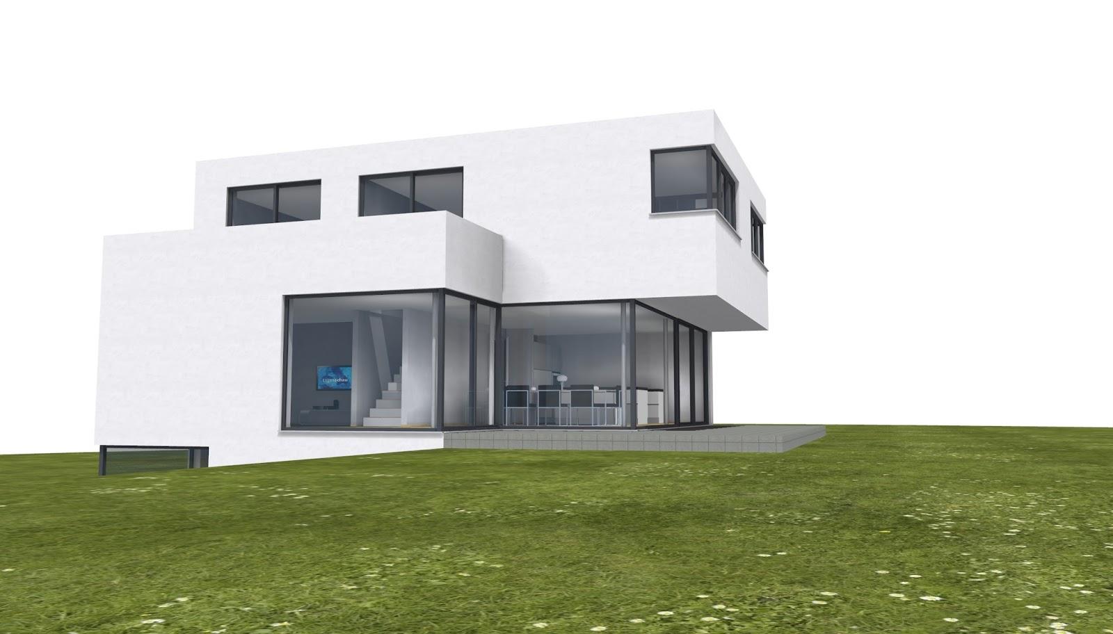 Architekt einfamilienhaus im bauhausstil 2p raum - Architekt bauhausstil ...