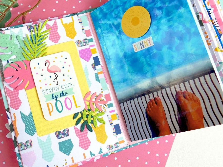 Scrapbooking Mini Album Pool Party
