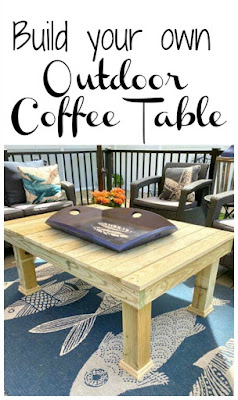 Pinterest pin for coffee table