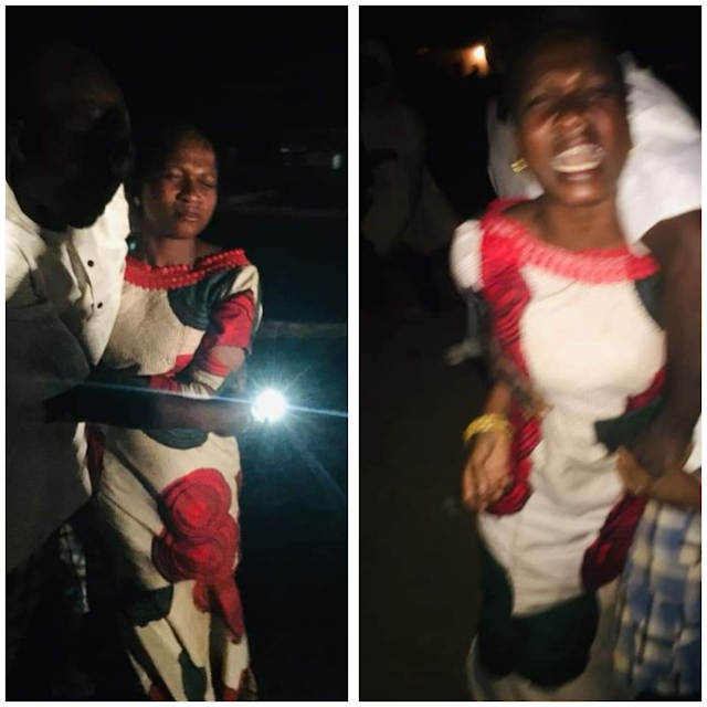 Oh No! Woman Allegedly Thrown Out Of Moving Car In Niger State. PHOTOS