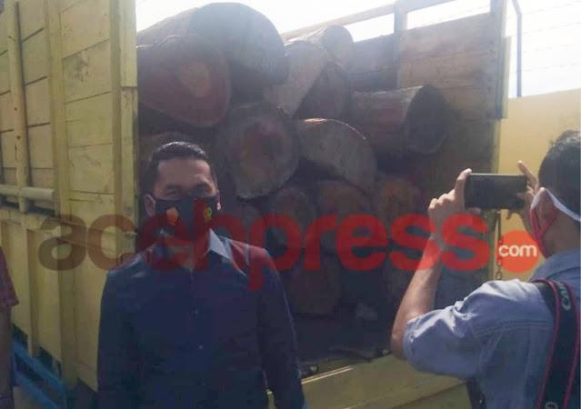 Polisi Berhasil Tangkap Pelaku Illegal logging di Pidie