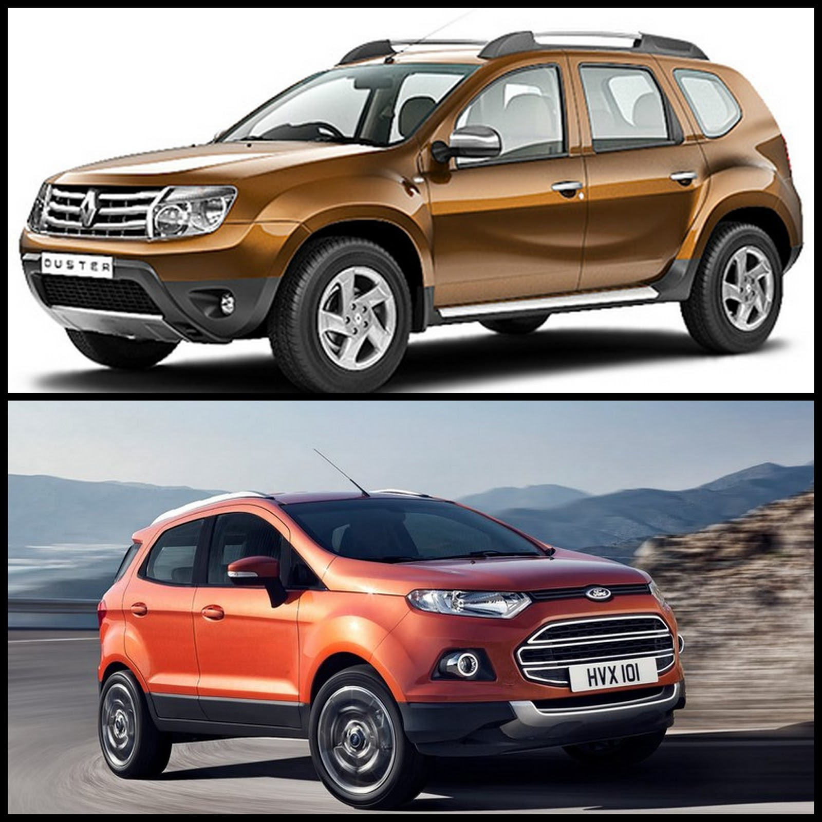 detailed comparison renault duster vs ford ecosport which compact suv is a better buy. Black Bedroom Furniture Sets. Home Design Ideas