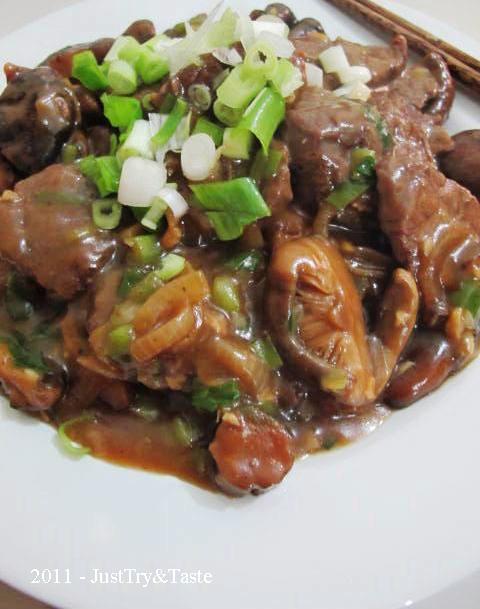Resep Daging Sapi & Jamur Shiitake Masak Teriyaki JTT