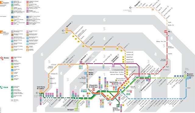 Resultado de imagen para metro de barcelona zonas