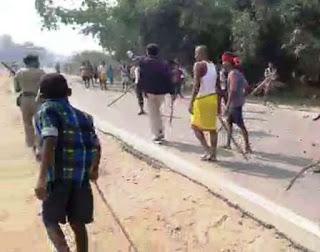 भोजपुर में छेड़खानी को लेकर दो गुटों के बीच झड़प, जमकर चले ईट-पत्थर और डंडे, आधा दर्जन लोग घायल