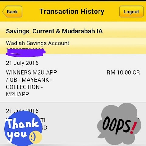 Join Maybank2u Application Dapat RM10