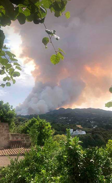 Evacuaciones Tejeda, incendio forestal Valleseco, Gran Canaria