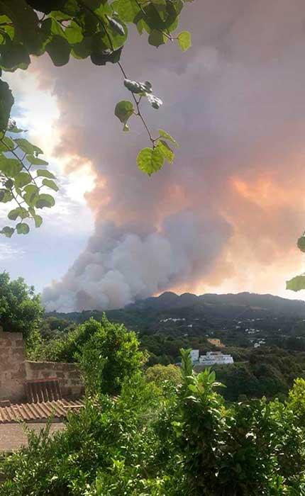 Evacuaciones Tejeda, incendio valleseco, Gran Canaria