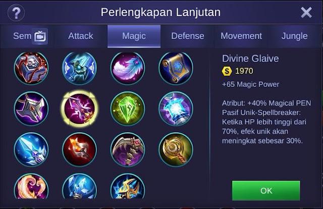 Divine Glaive Mobile Legends