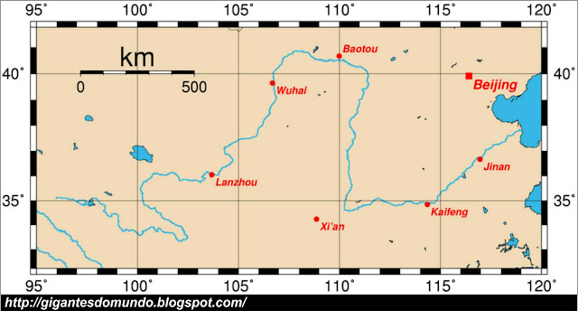 mapa Rio Amarelo