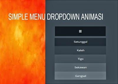 simple menu animasi css3