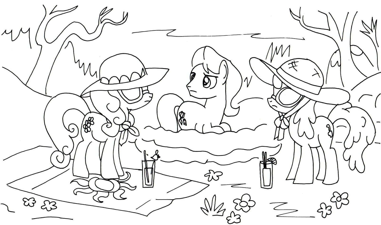 Free Printable My Little Pony Coloring Pages Cherry Berry Caramel Daisy Little Pony Coloring Page